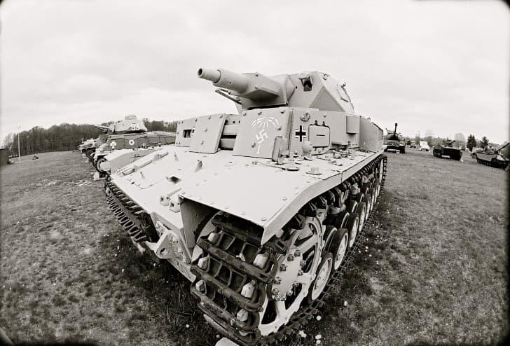 Tanque de guerra Panzer III de las Afrika Korps