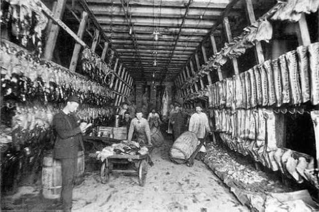industria de la carne en chicago 1906