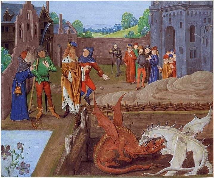 la leyenda de los dragones de Gales