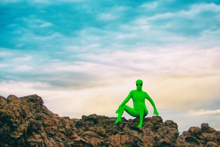 marciano en las rocas