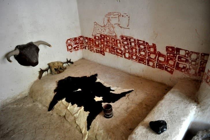 Çatalhöyük recreacion de una vivienda