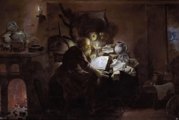 El Alquimista (1649), David Rijckaert III