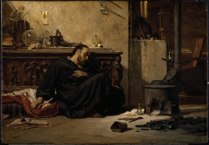 El Alquimista Muerto, Elihu Vedder (1836 1923)