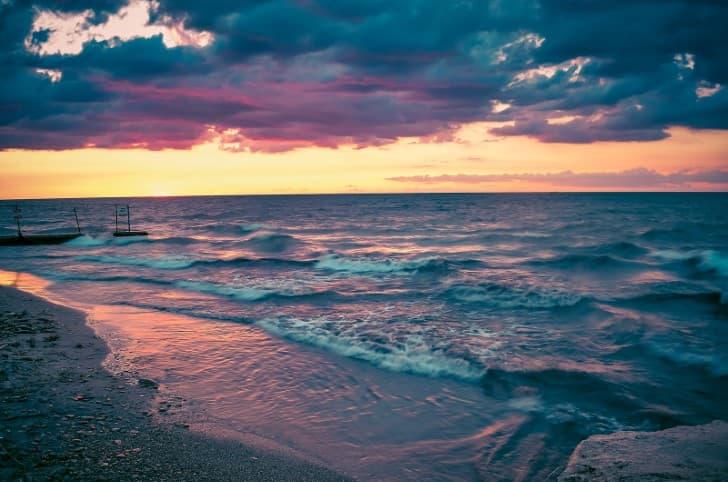 Lago Erie atardecer