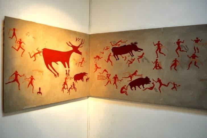 arte rupestre en Çatalhöyük recreacion de una vivienda