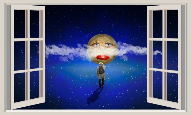 el sonambulismo hombre camina en la noche
