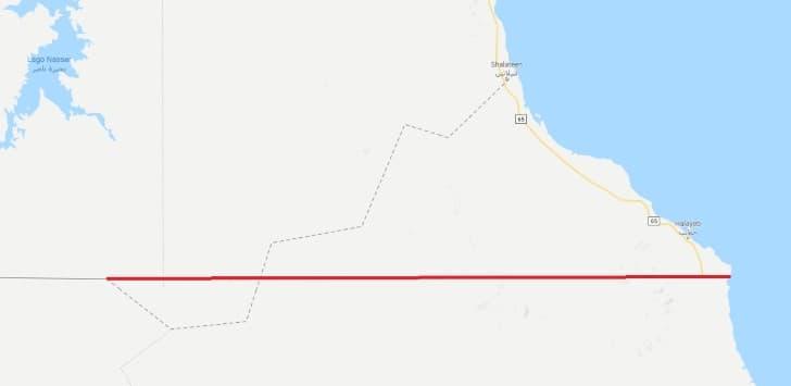 frontera entre sudan y egipto 1889