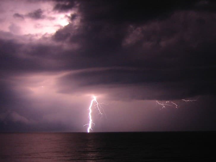 tormenta en el lago erie