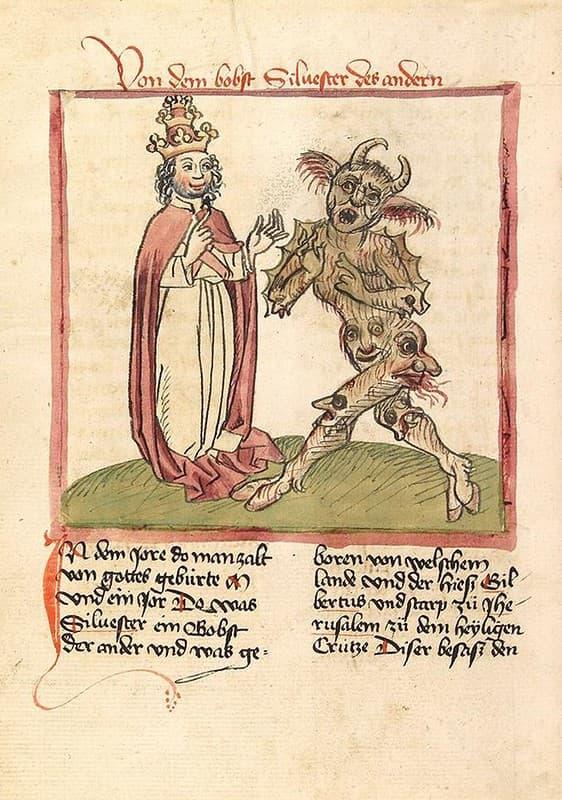 1460 pacto con el diablo Papa Silvestre II
