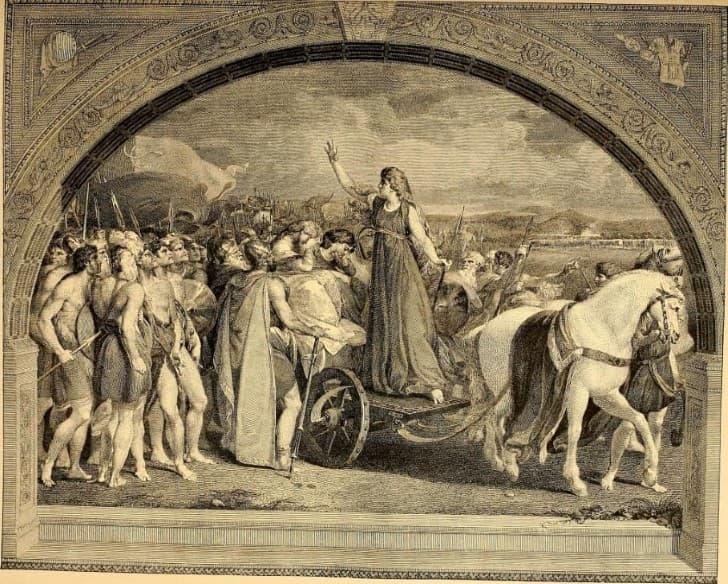 Boudica liderando a los celtas(1)