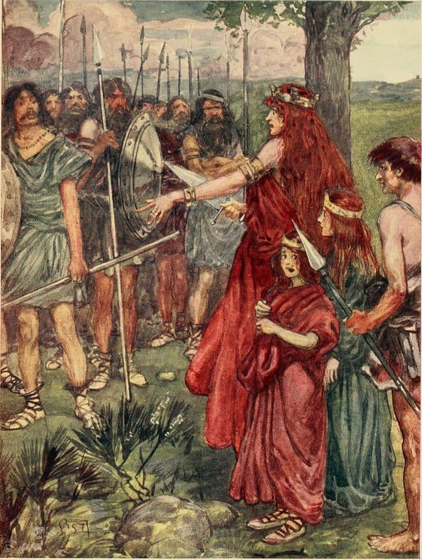 Boudica protege a sus hijas
