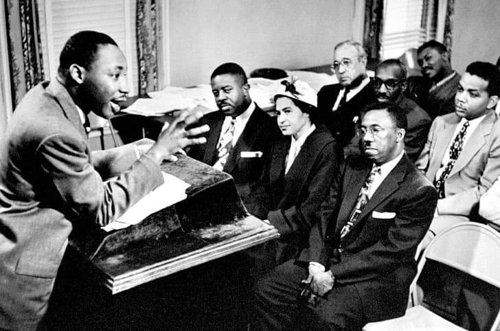Martin Luther King y Rosa Parks