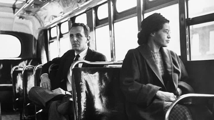 Rosa Parks en el camion