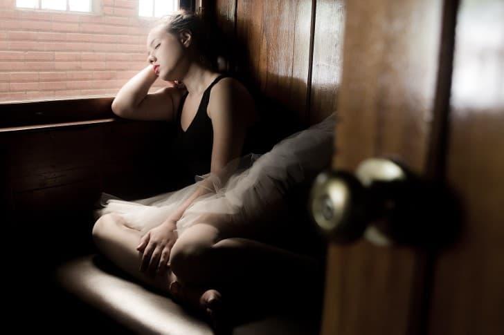 bailarina cansada