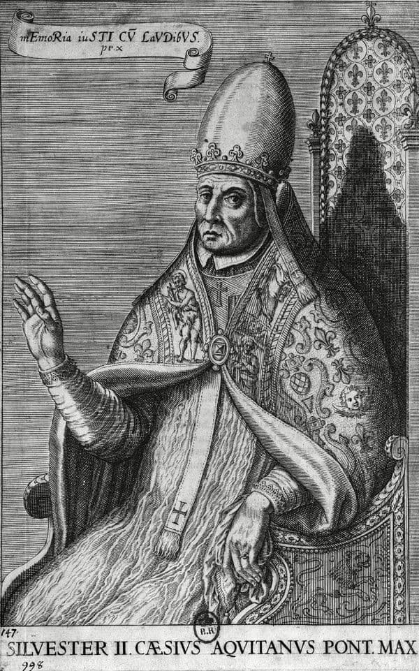 grabado del Papa Silvestre II