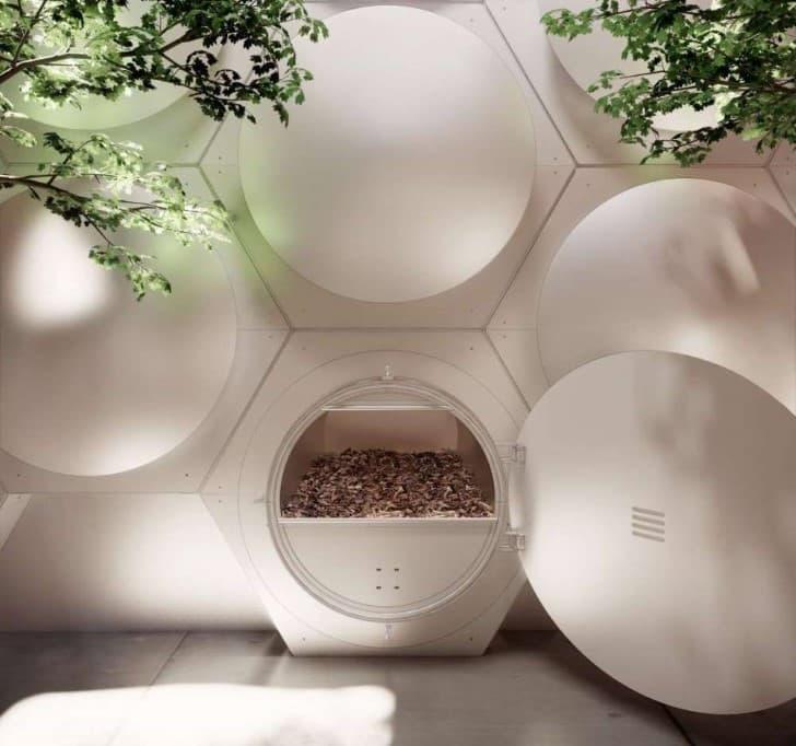 proyecto reduccion natural organica de cadaveres contenedor
