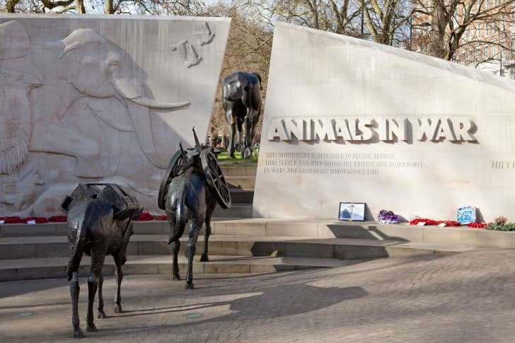 animals in war monumenro en hyde park
