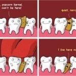 Una palomita atorada en los dientes terminó con cirugía de corazón