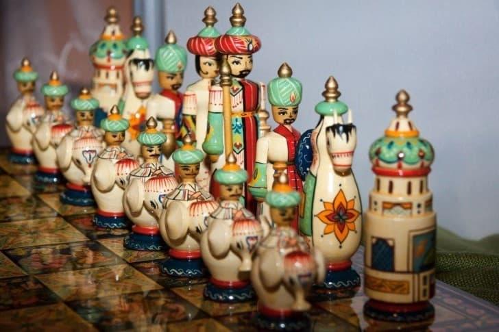 piezas del ajedrez