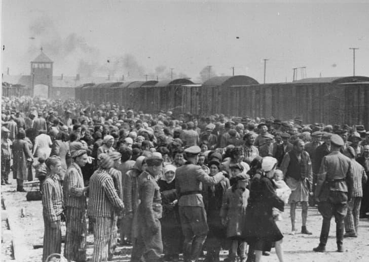 prisioneros en Auschwitz