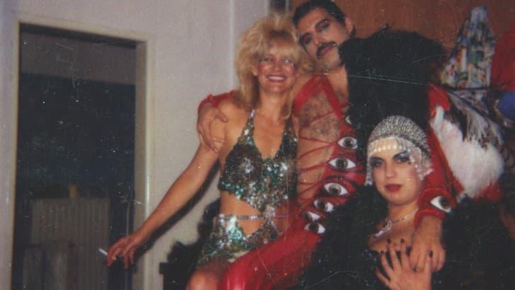 Barbara Valenti y Freddie Mercury