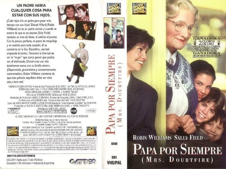 Papá por siempre caratula VHS