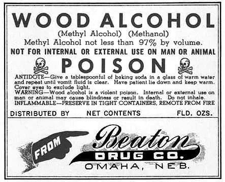 alcohol de madera