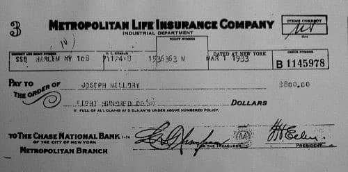 cheque del Metropolitan