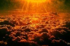 el cielo se tiñe de rojo
