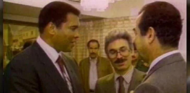 encuentro entre Muhammad Ali y Saddam Hussein