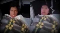 """Mujer """"poseída"""" es filmada dentro de una ambulancia"""