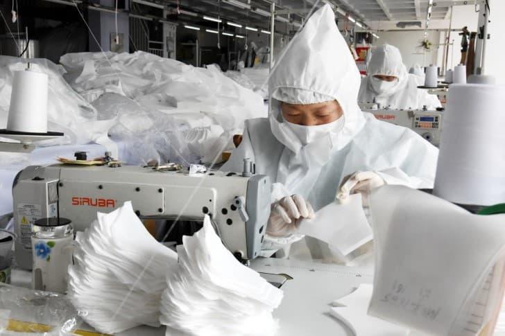 produccion de cubrebocas