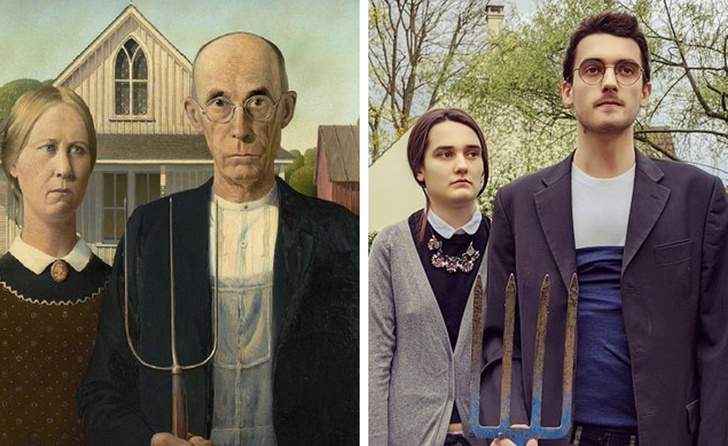parodias del arte american gothic