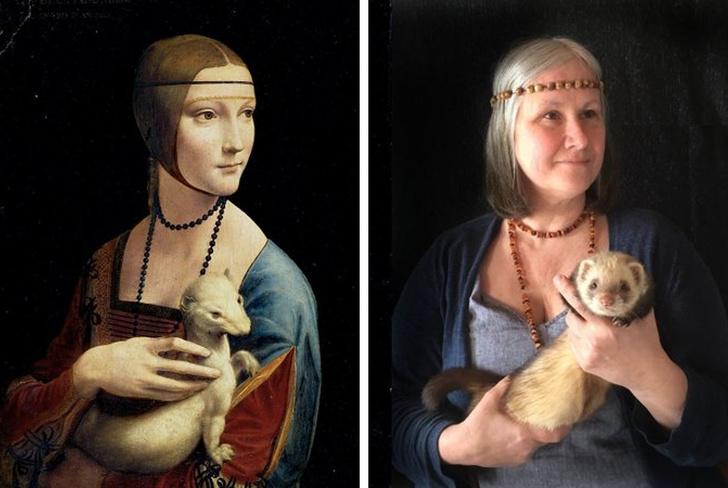 parodias del arte dama del armiño