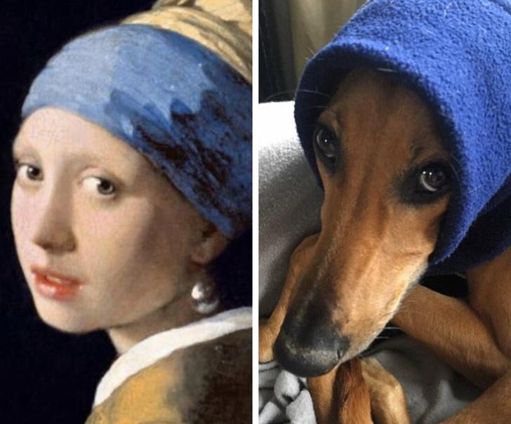 parodias del arte joven de la perla