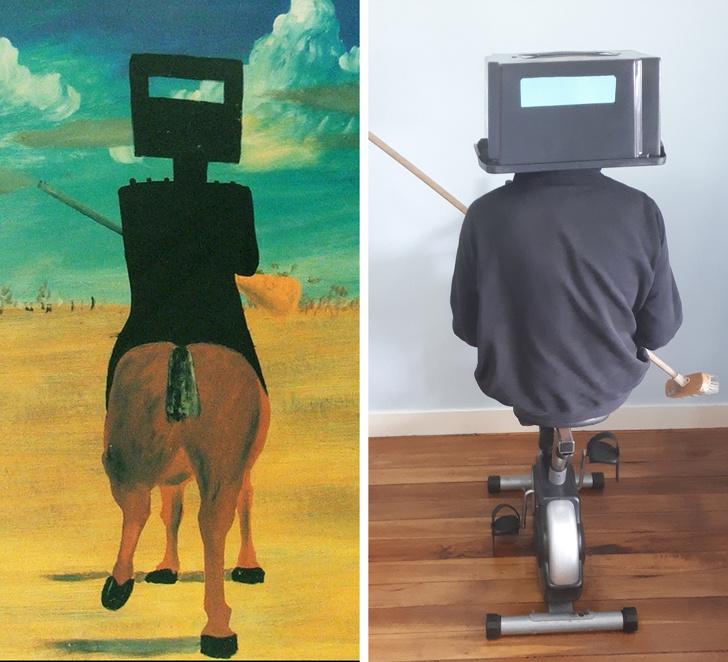 parodias del arte ned kelly