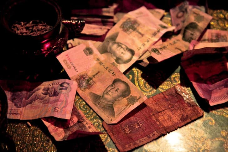 yuan chino billetes