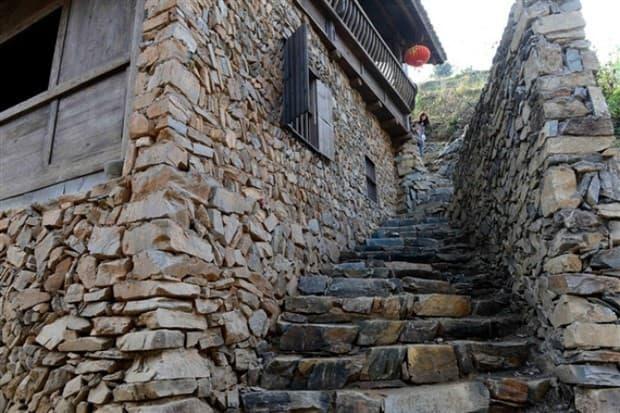 casa construida con piedra