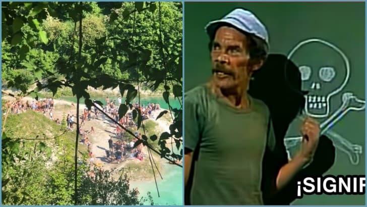 celebran fin de la cuarentena en lago toxico