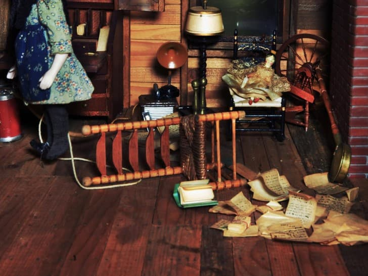 dioramas miniaturas escenas del crimen