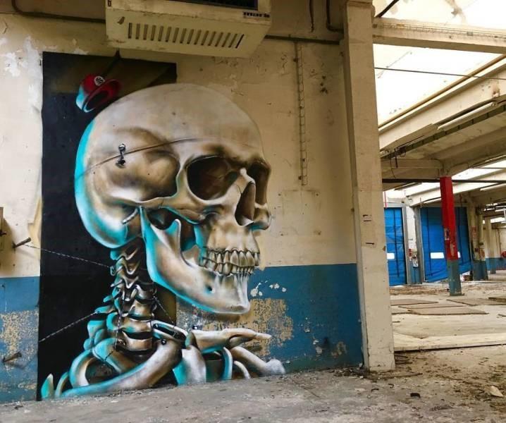 grafiti 3D ilusion opica scaf (14)