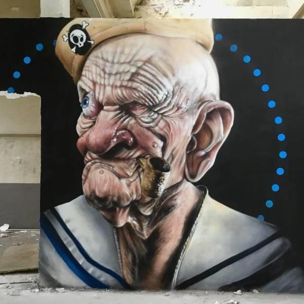 grafiti 3D ilusion opica scaf (15)
