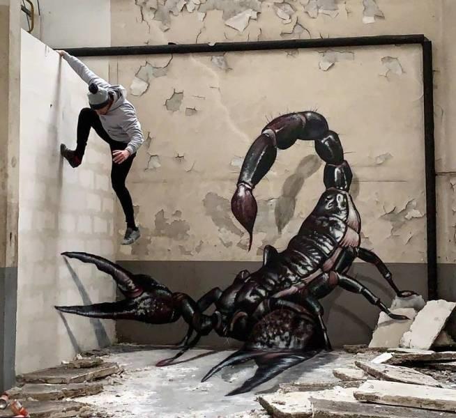 grafiti 3D ilusion opica scaf (16)
