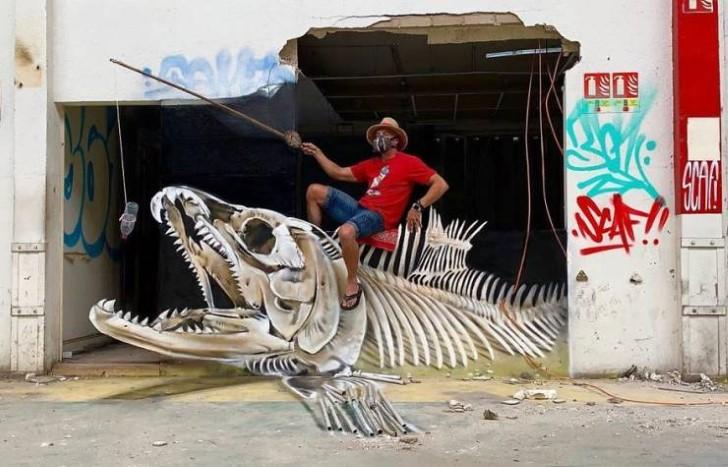 grafiti 3D ilusion opica scaf (18)