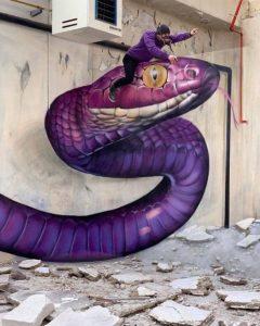 50 grafitis increíbles con ilusiones 3D por Scaf