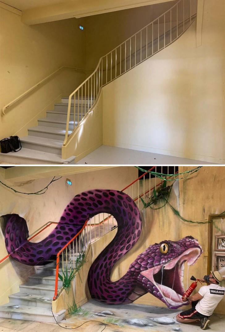 grafiti 3D ilusion opica scaf (39)