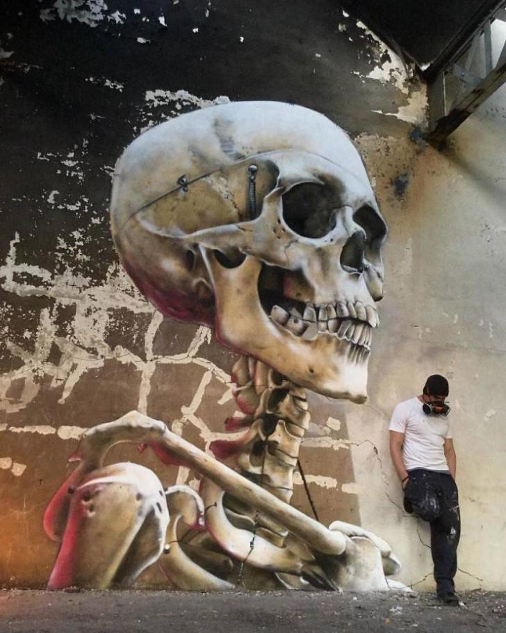 grafiti 3D ilusion opica scaf (40)
