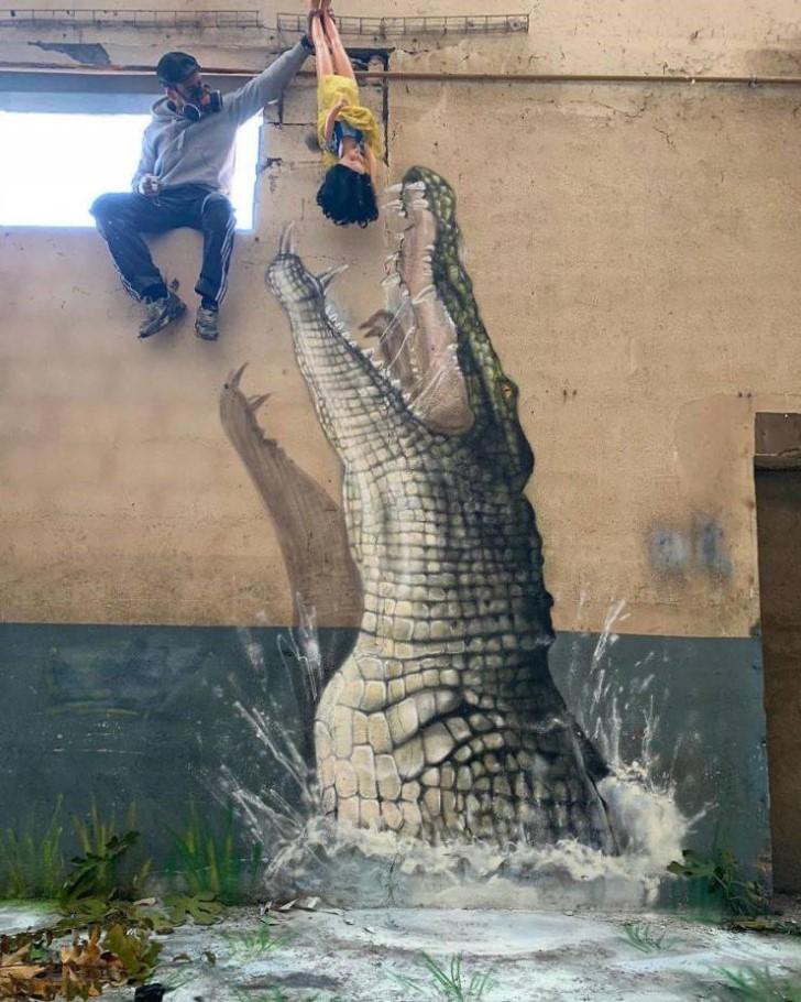grafiti 3D ilusion opica scaf (50)