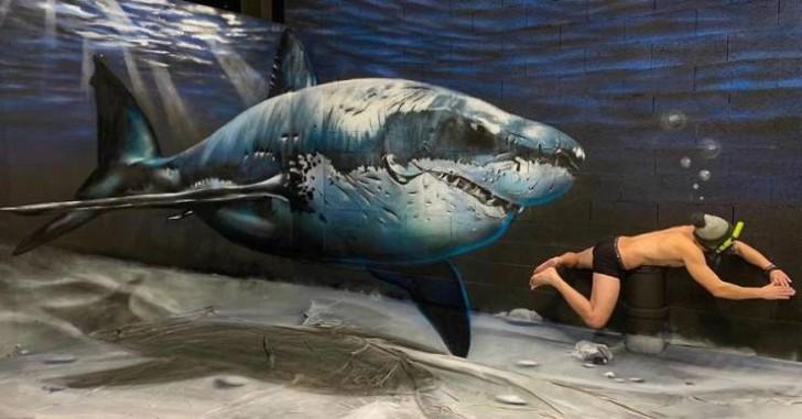 grafiti 3D ilusion opica scaf (7)