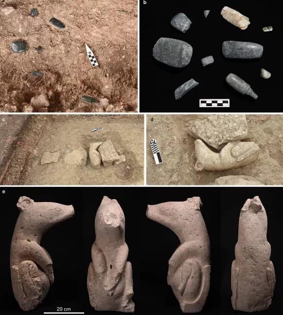 objetos arqueologicos en aguada fenix